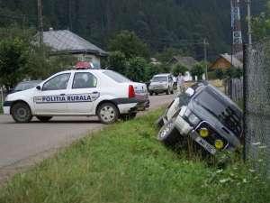 Autoturismul care a încercat să forţeze barajul poliţiei