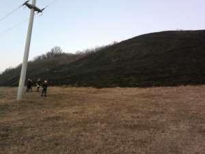 Opt hectare de teren, pârjolite de la un rest de ţigară aprinsă