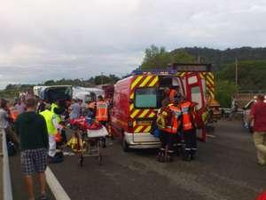 Un copil mort şi 33 de răniţi, din care 12 în stare gravă Foto: MEDIAFAX