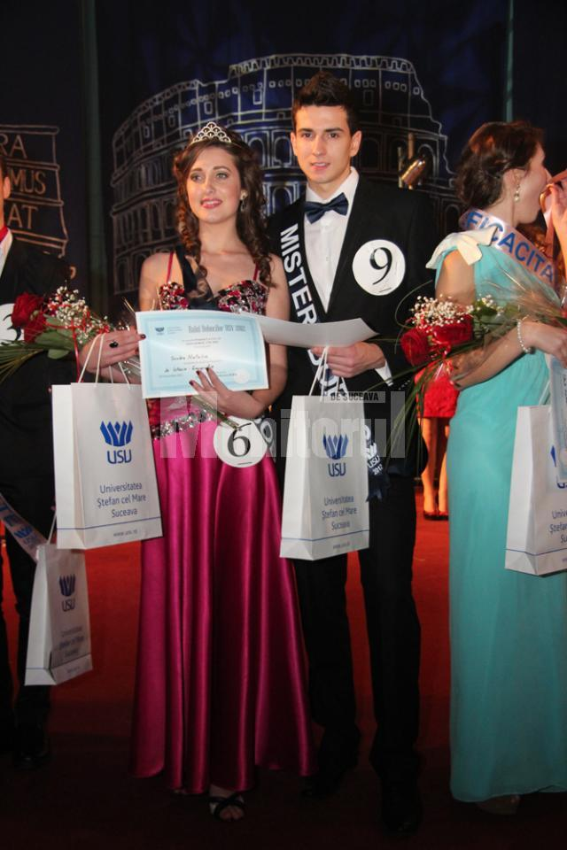 Natalia Sculea si Tudor Popa, Miss si Mister Boboc 2012 la USV