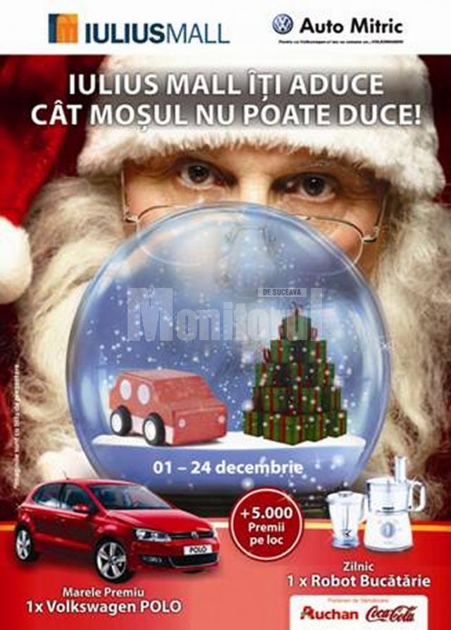 Sute de premii zilnice şi un Volkwagen Polo, pentru cumpărătorii din Iulius Mall