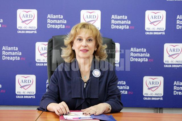 """Sanda-Maria Ardeleanu: """"E firesc să fiu fericită că am reușit să obțin, cu ajutorul celor 7.472 de voturi ale sucevenilor, un al doilea mandat de deputat"""""""