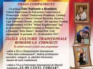 Zilele Culturii Tradiţionale Române la Cernăuţi