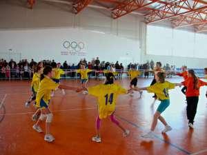 Hora bucuriei pentru echipa câștigătoare, CS Olympic Suceava