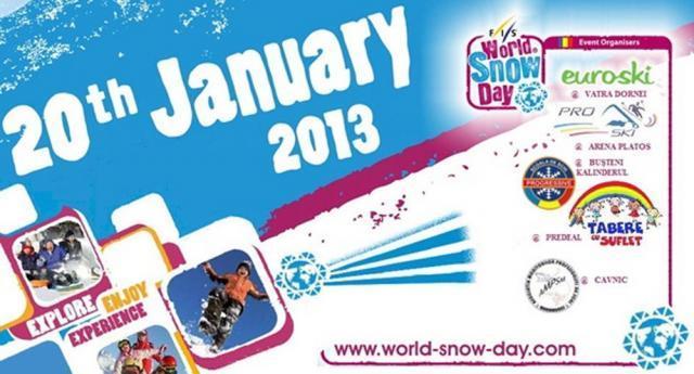 Ziua Mondială a Zăpezii, sărbătorită la Vatra Dornei, duminică, 20 ianuarie