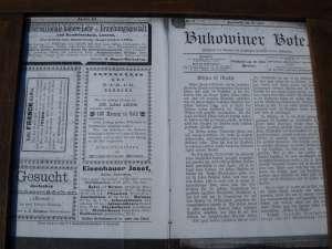 Articol de ziar prin care Iosef Haisehaur, în data de 25 mai 1898, îşi făcea reclamă cu material săditor din peste 100 de sortimente de măr şi păr