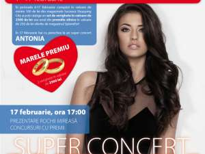 Antonia va concerta la Shopping City Suceava, cu prilejul Valentine's Day
