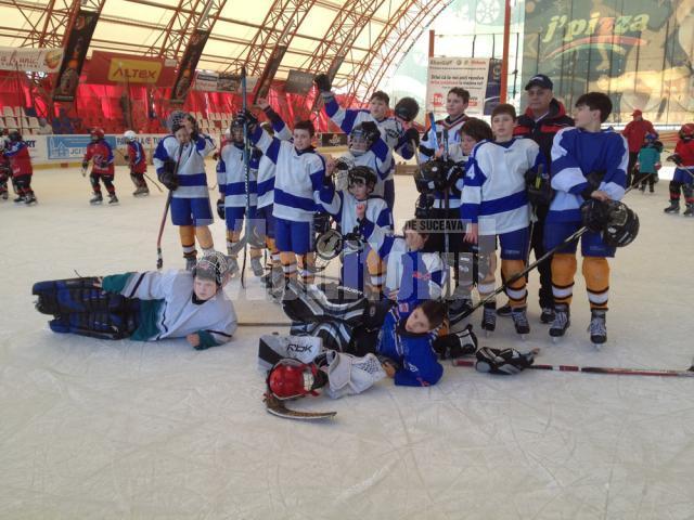 Tinerii hocheiști de la CSM Suceava au făcut cel mai bun turneu din acest sezon