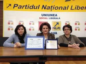 Femeile liberale sucevene au primit un premiu pentru programele de educaţie pe care le-au organizat