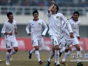 Goian bucurându-se de golul marcat în tricoul noii sale echipe