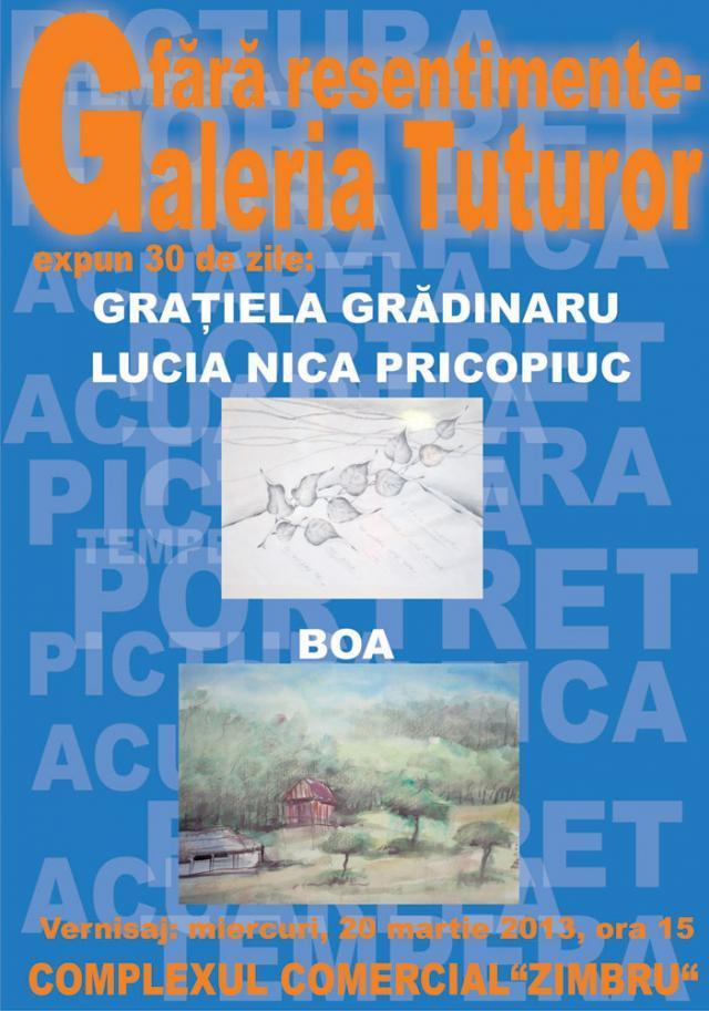 Expoziţie de grafică şi pictură