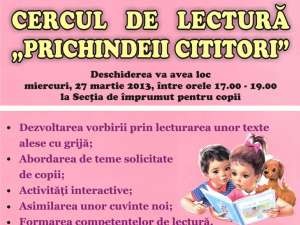 """Cercul de lectură """"Prichindeii cititori"""", la Biblioteca """"I.G. Sbiera"""""""