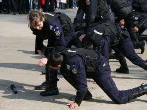 demostraţie luptă jandarmi