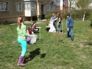Activitate de curățenie în cartierul Obcini
