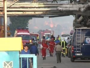 Incendiul de la Ambro, provocat de o scânteie în timp ce se lucra cu un utilaj
