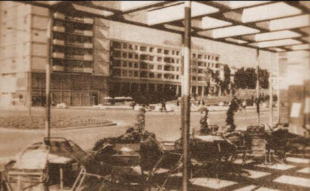 Terasa Restaurantului Bucureşti, din centrul Sucevei