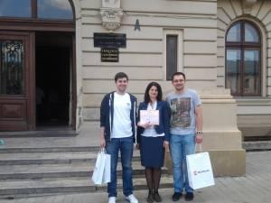 """O parte din echipa care a câştigat premiul I la Concursul de Microcontrolere şi Aplicaţii """"Mihail Konteschweller"""""""