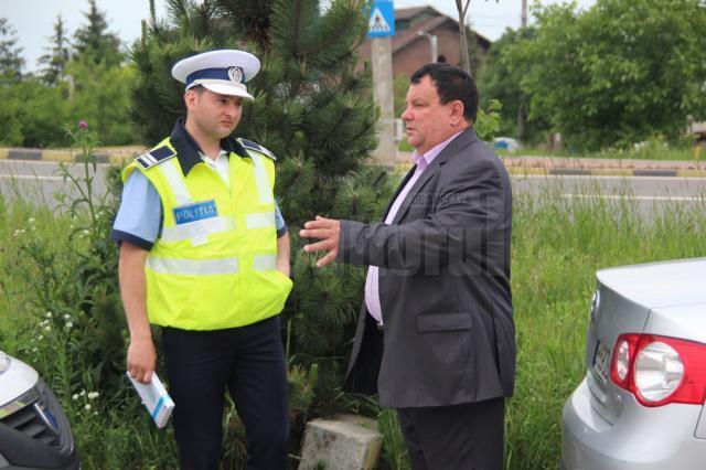 Romică Burlacu a chemat poliţia la faţa locului