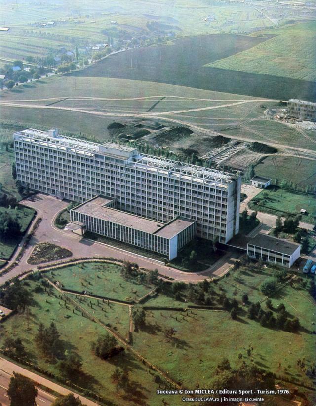 Spitalul Suceava la începutul anilor '70. Foto: Ion MICLEA / Editura Sport-Turism