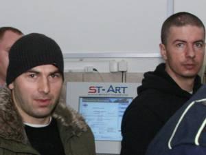Iulian Spatariu (stânga) şi Vasile Ion Crasi (dreapta)