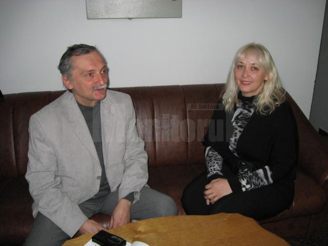 Biochimistul sucevean Corneliu Pîrîu şi Cristina G. Hlusak