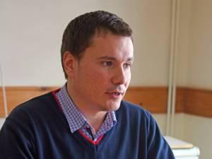 Coordonatorul proiectului de la Spătăreşti, Ionuţ Păstrăv