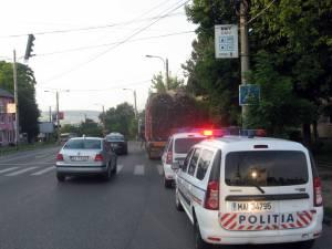 Şoferul a scăpat doar cu o amendă privind circulaţia pe drumurile publice