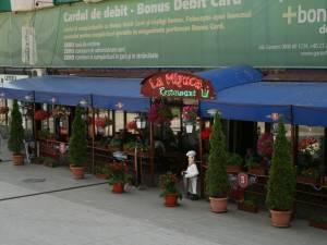 Activitatea servire a mesei la restaurantul La Mizuca din centrul Sucevei, suspendată temporar
