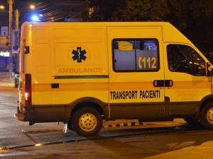 Ambulanţa implicată în accident