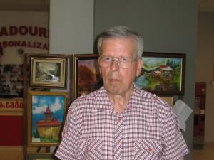 """Pictorul sucevean Ştefan Danilevici, supranumit """"pictorul crizantemelor"""""""