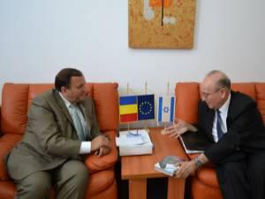 Flutur s-a întâlnit cu ambasadorul Israelului în România