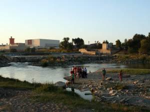 Tânărul se scălda în zona barajului din apropierea staţiei de epurare a municipiului Suceava