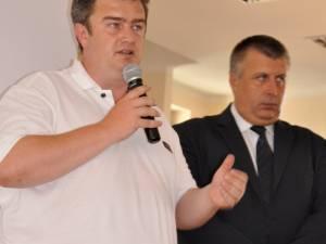 Preşedintele CJ Suceava, Cătalin Nechifor, şi senatorul Neculai Bereanu