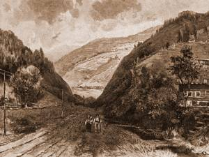 Iacobeni – desen de Mattias Adolf Charlemont (1820-1871)