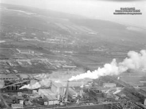 Zona Industrială Suceava, cu CCH în funcţiune - vedere din avion. Foto: Dumitru VINŢILĂ