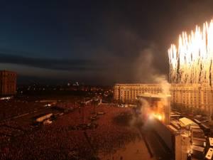 Concertul lui Roger Waters la Bucureşti sau lecţie despre cum se doboară un zid. Foto: MediaFax