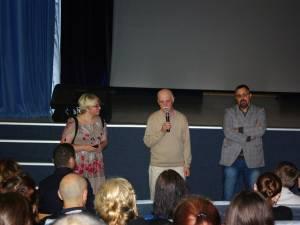 Regizorul Stere Gulea şi autorul romanului, Dan Lungu, în dreapta