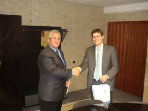 Primarul Lungu alături de Sebastian Gromig, şeful Secţiei economice şi comerciale a Ambasadei Germaniei la Bucureşti