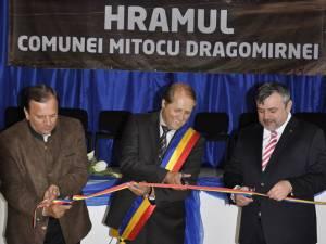Inaugurarea investiţiei de la Mitocu Dragomirnei
