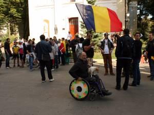 La mitingul de ieri după-amiază de la Suceava au participat peste o sută de persoane