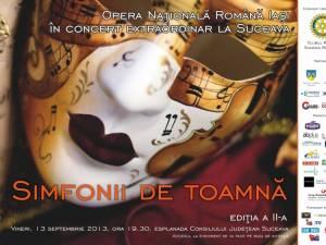 """""""Simfonii de toamnă"""", pe esplanada Consiliului Judeţean"""