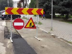 Şanţurile din zona Palatului Administrativ, asfaltate