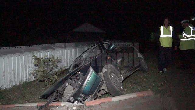 Accidentul s-a petrecut duminică noapte, în jurul orei 22.15, pe strada Universităţii, artera principală din Moara