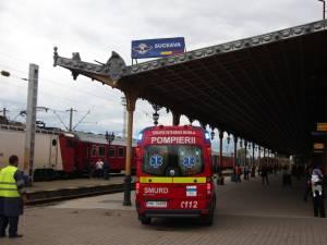 Femeie agăţată de un tren în Gara Burdujeni