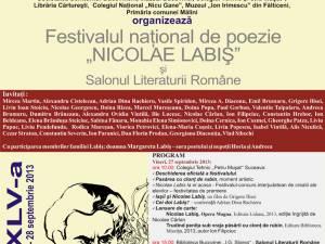 """Festivalul naţional de poezie """"Nicolae Labiş"""", ediţia a XLV-a"""