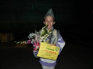 """Eusebiu Gafiţa, în vârstă de 14 ani, a câştigat Trofeul """"Corabia de aur"""""""