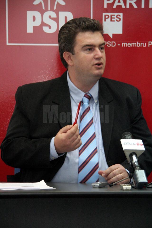 Preşedintele Consiliului Judeţean (CJ) Suceava, Cătălin Nechifor, lider al organizaţiei judeţene a PSD