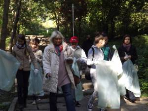 Voluntari implicați în acțiunea de salubrizare a parcului Șipote