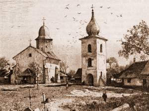 Suceava, biserica armenească – desen de Rudolf Bernt (1844-1914)