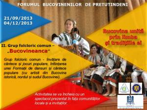 Grupul folcloric comun Bucovineanca